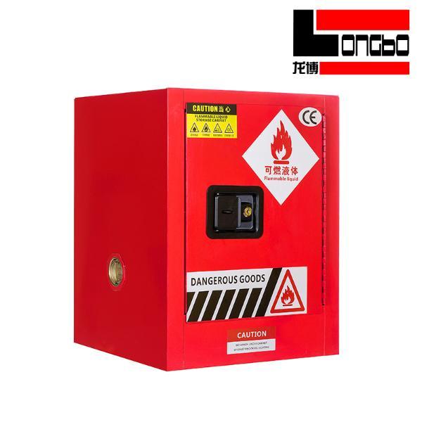 LONGBO-057 工业防爆柜化学品安全柜实验室危化品储存柜双锁易燃品防火试剂柜 4加仑 红色