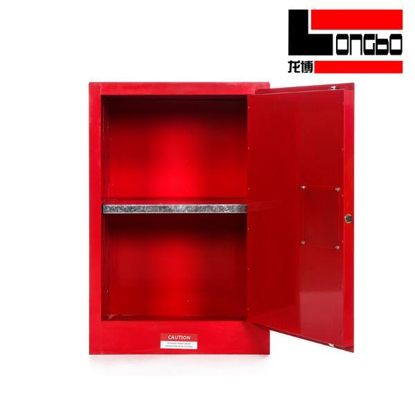 LONGBO-057 工业防爆柜化学品安全柜实验室危化品储存柜双锁易燃品防火试剂柜 12加仑 红色
